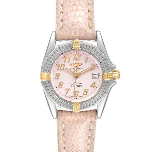 Photo of Breitling Callistino Steel Yellow Gold Ladies Watch B52345 Box Papers