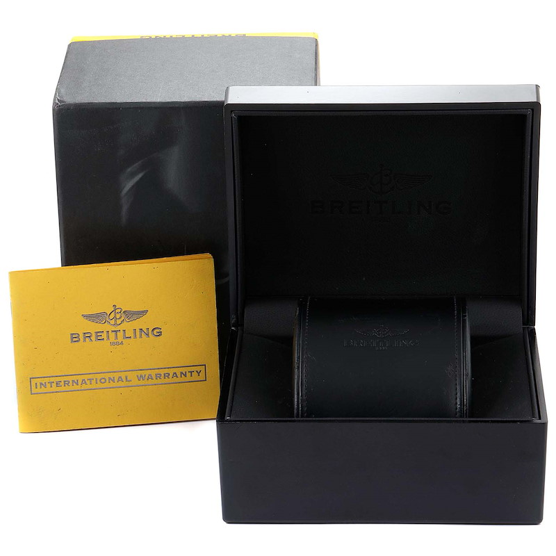 Breitling Chronomat Evolution Steel Rose Gold Mens Watch C13356 Box Papers SwissWatchExpo