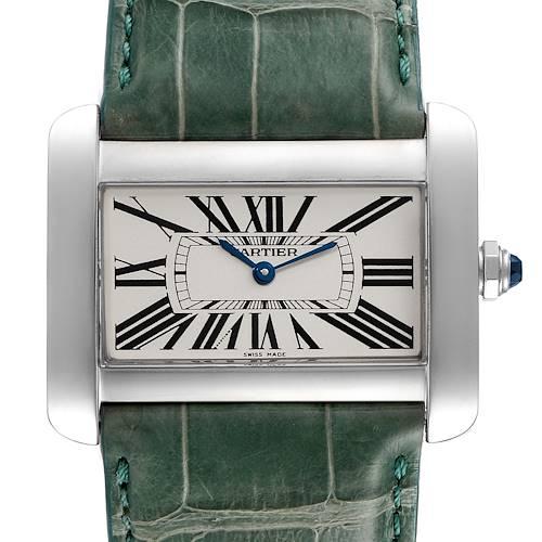 Photo of Cartier Tank Divan XL Silver Dial Green Strap Unisex Watch W6300755
