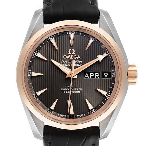 Photo of Omega Aqua Terra Annual Calendar Steel Rose Gold Watch 231.23.39.22.06.001