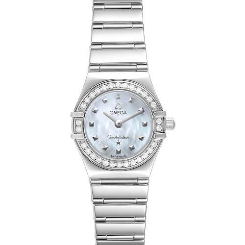 Photo of Omega Constellation My Choice Diamond Steel Ladies Watch 1465.71.00 Box Card