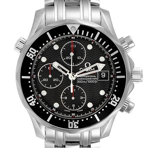 Photo of Omega Seamaster Chronograph Black Dial Watch 213.30.42.40.01.001 Box Card