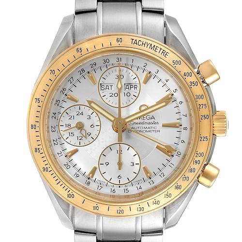 Photo of Omega Speedmaster Day Date Steel Yellow Gold Watch 323.21.40.44.02.001 Box Card