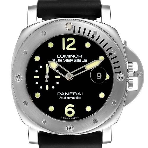 Photo of Panerai Luminor Submersible 44mm Steel Mens Watch PAM01024 Box Card