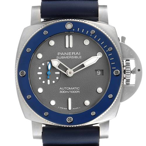 Photo of Panerai Luminor Submersible Grey Dial Steel Mens Watch PAM00959 Box Papers