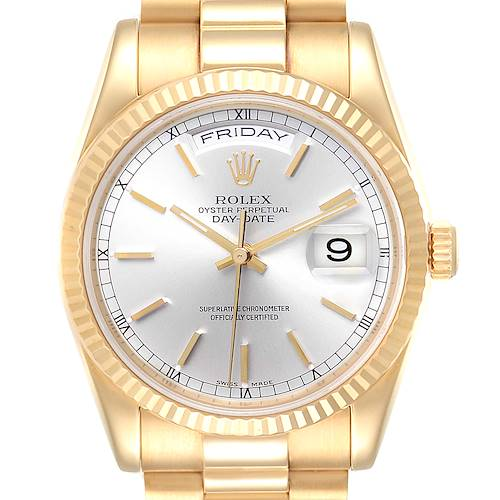 Photo of Rolex President Day Date 36 Yellow Gold Mens Watch 118238 Box Papers