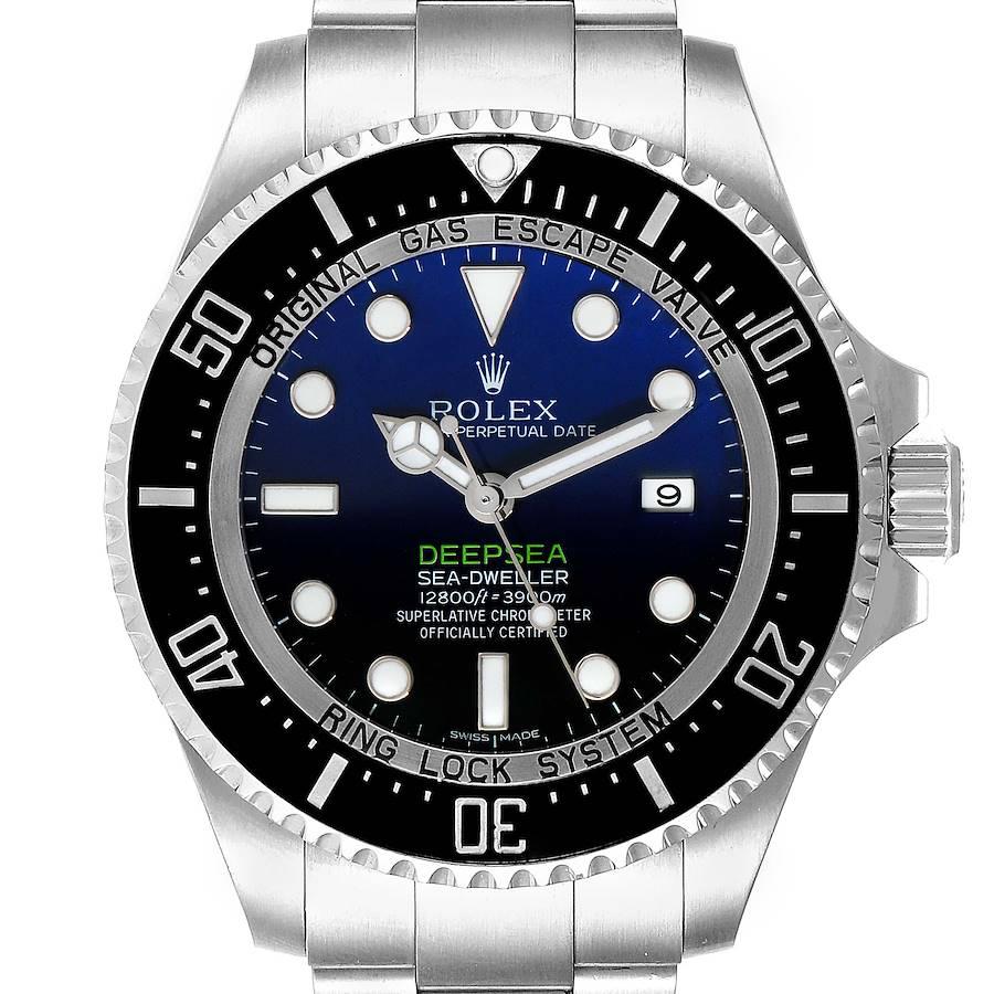 Rolex Seadweller Deepsea Cameron D-Blue Steel Watch 116660 Box Card SwissWatchExpo