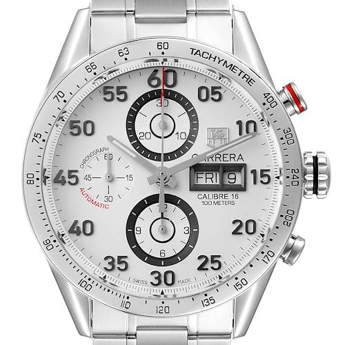 Photo of Tag Heuer Carrera Day-Date Silver Dial Steel Mens Watch CV2A11 Box Papers