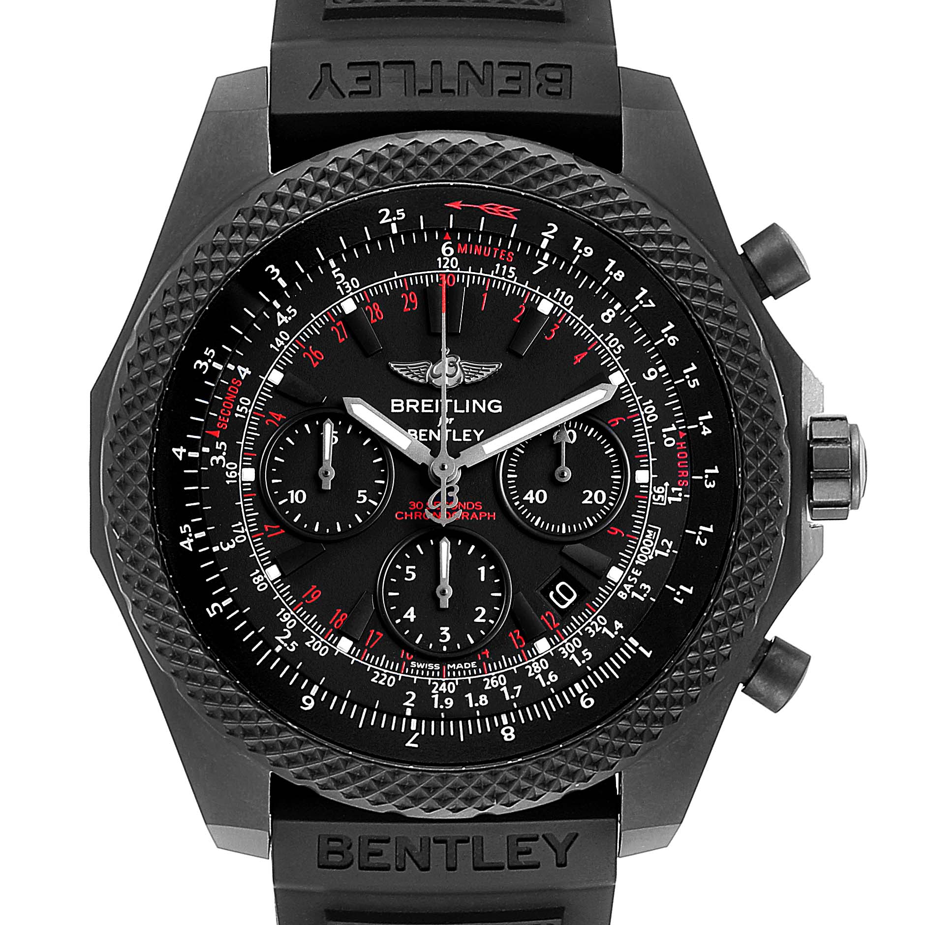 Photo of Breitling Bentley Light Body Midnight Carbon Ruber Strap LE Watch V25367