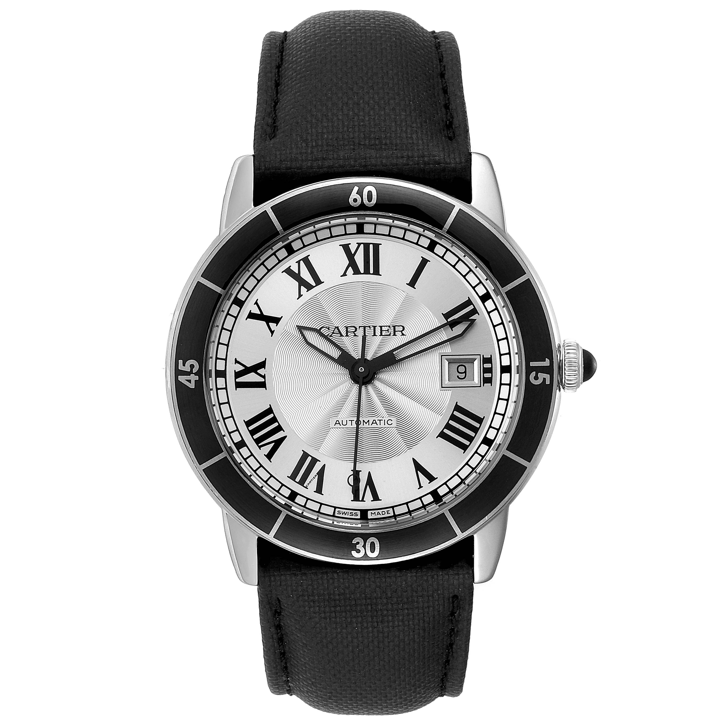 Cartier Croisiere Silver Dial Automatic Steel Mens Watch WSRN0002 SwissWatchExpo