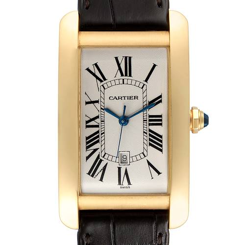 Photo of Cartier Tank Americaine Yellow Gold Automatic Mens Watch W2603156