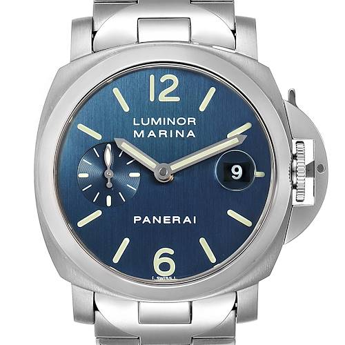 Photo of Panerai Luminor Marina Blue Dial Mens Watch PAM00120 Box Papers