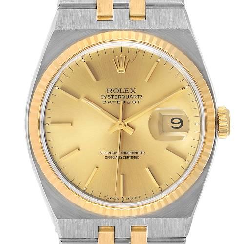 Photo of Rolex Oysterquartz Datejust 36mm Steel Yellow Gold Mens Watch 17013 Unworn