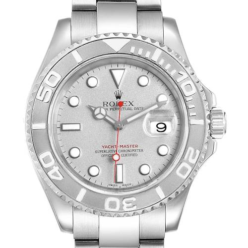 Photo of Rolex Yachtmaster 40mm Steel Platinum Mens Watch 16622 Box Papers