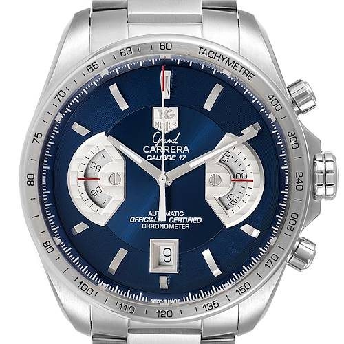 Photo of Tag Heuer Grand Carrera Blue Dial Limited Edition Mens Watch CAV511F Box