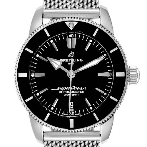 Photo of Breitling Superocean Heritage B20 44 Black Dial Mens Watch AB2030 Box Card