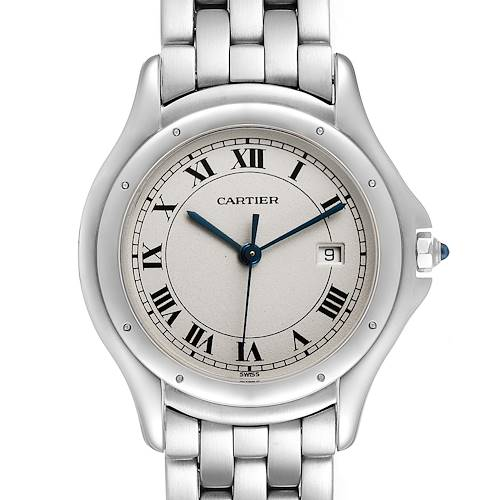 Photo of Cartier Cougar Silver Dial Steel Unisex Watch 987904