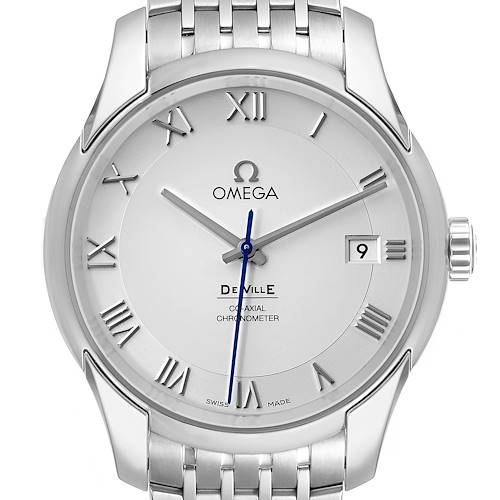 Photo of Omega DeVille Co-Axial 41mm Silver Dial Watch 431.10.41.21.02.001 Box Card