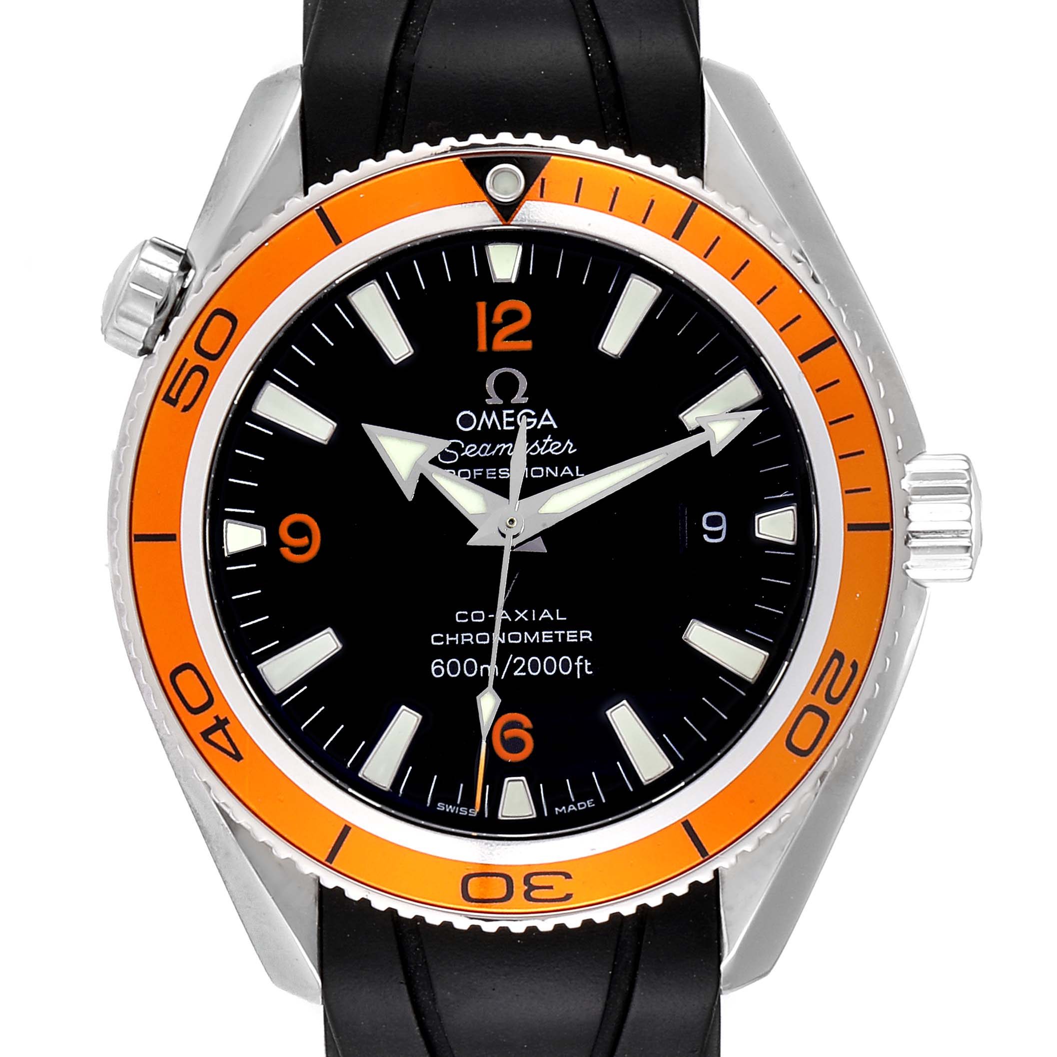 Omega Seamaster Planet Ocean Rubber Strap Mens Watch 2909.50.91 Box Card