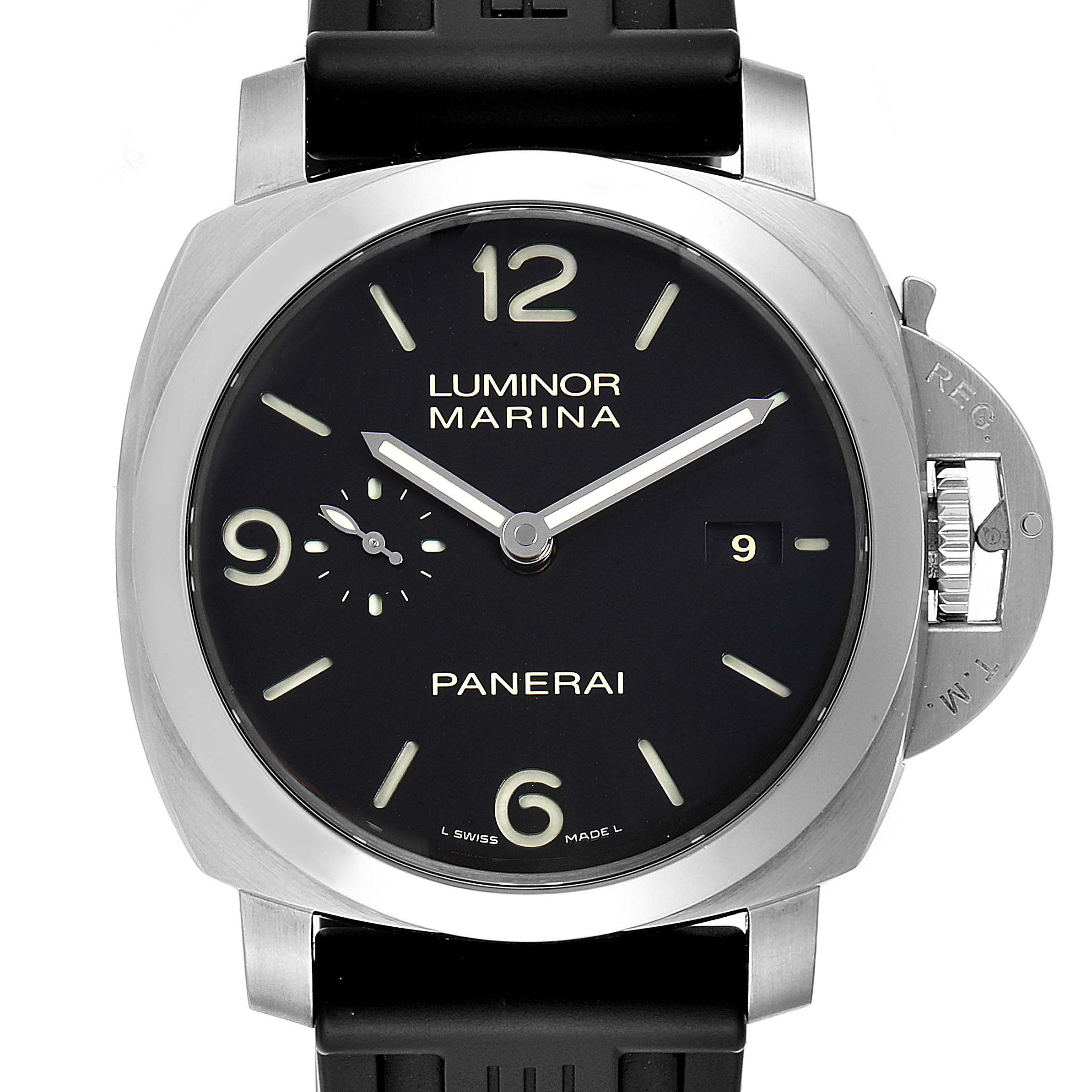 Panerai Luminor 1950 Marina Mens 44mm Watch PAM00312 Box Papers