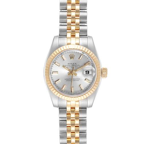 Photo of Rolex Datejust 26 Steel Yellow Gold Silver Dial Ladies Watch 179173