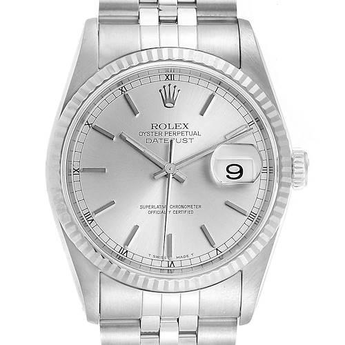 Photo of Rolex Datejust White Dial Jubilee Bracelet Steel & White Gold Mens Watch 16234