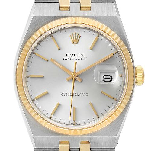 Photo of Rolex Oysterquartz Datejust 36mm Steel 14k Yellow Gold Mens Watch 17013