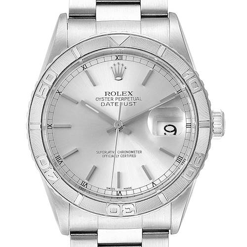 Photo of NOT FOR SALE Rolex Turnograph Datejust Steel White Gold Silver Dial Mens Watch 16264 PARTIAL PAYMENT