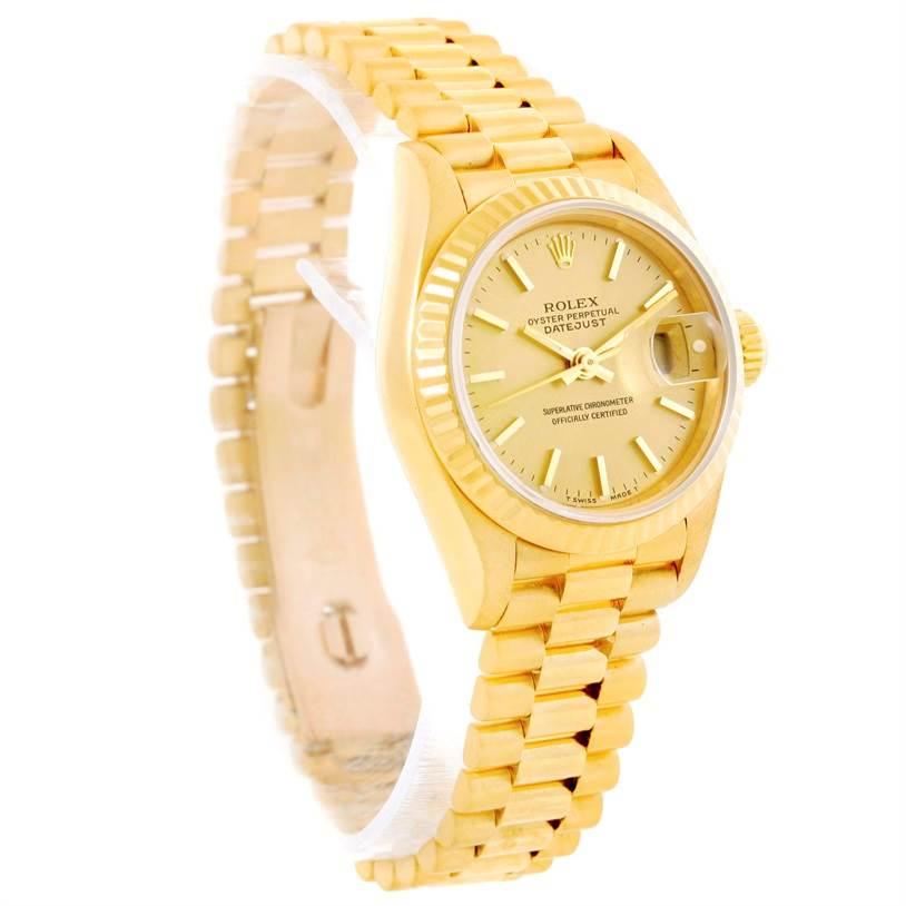 10421 Rolex President Datejust 26mm 18k Yellow Gold Ladies Watch 69178 SwissWatchExpo