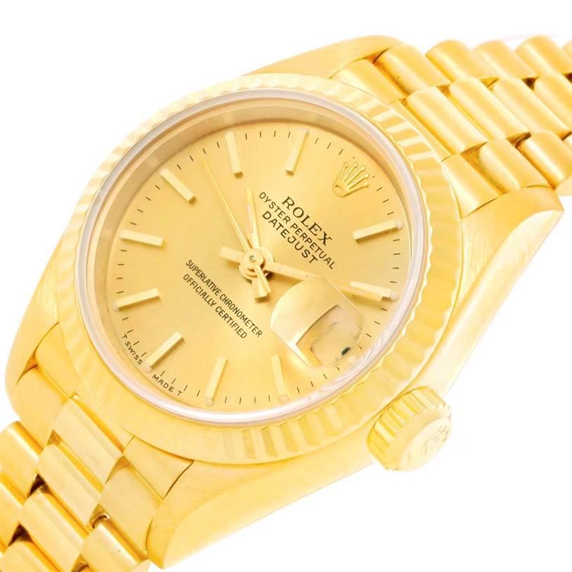 Rolex President Datejust 26mm 18k Yellow Gold Ladies Watch 69178 SwissWatchExpo