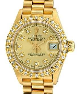 Photo of Rolex Ladies 18k Yellow Gold President Datejust 6917
