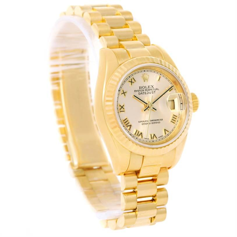 11947 Rolex President Datejust Ladies 18k Yellow Gold Watch 179178 SwissWatchExpo