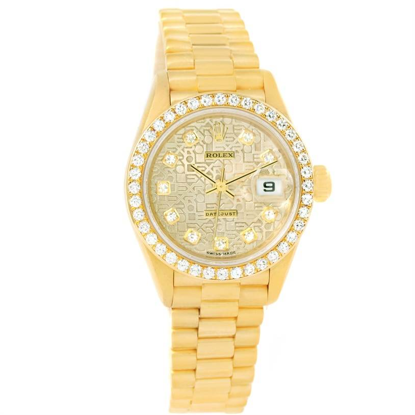11491 Rolex President Datejust Yellow Gold Jubilee Dial Diamond Watch 79178 SwissWatchExpo