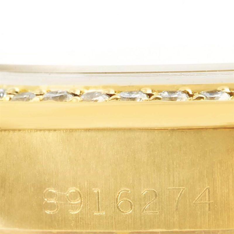 Rolex President Ladies 18k Yellow Gold Coral Diamond Dial Watch 69138 SwissWatchExpo