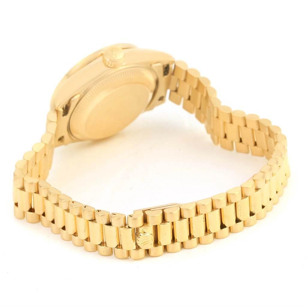 14009 Rolex President Datejust Ladies 18k Yellow Gold Diamond Watch 69178 SwissWatchExpo