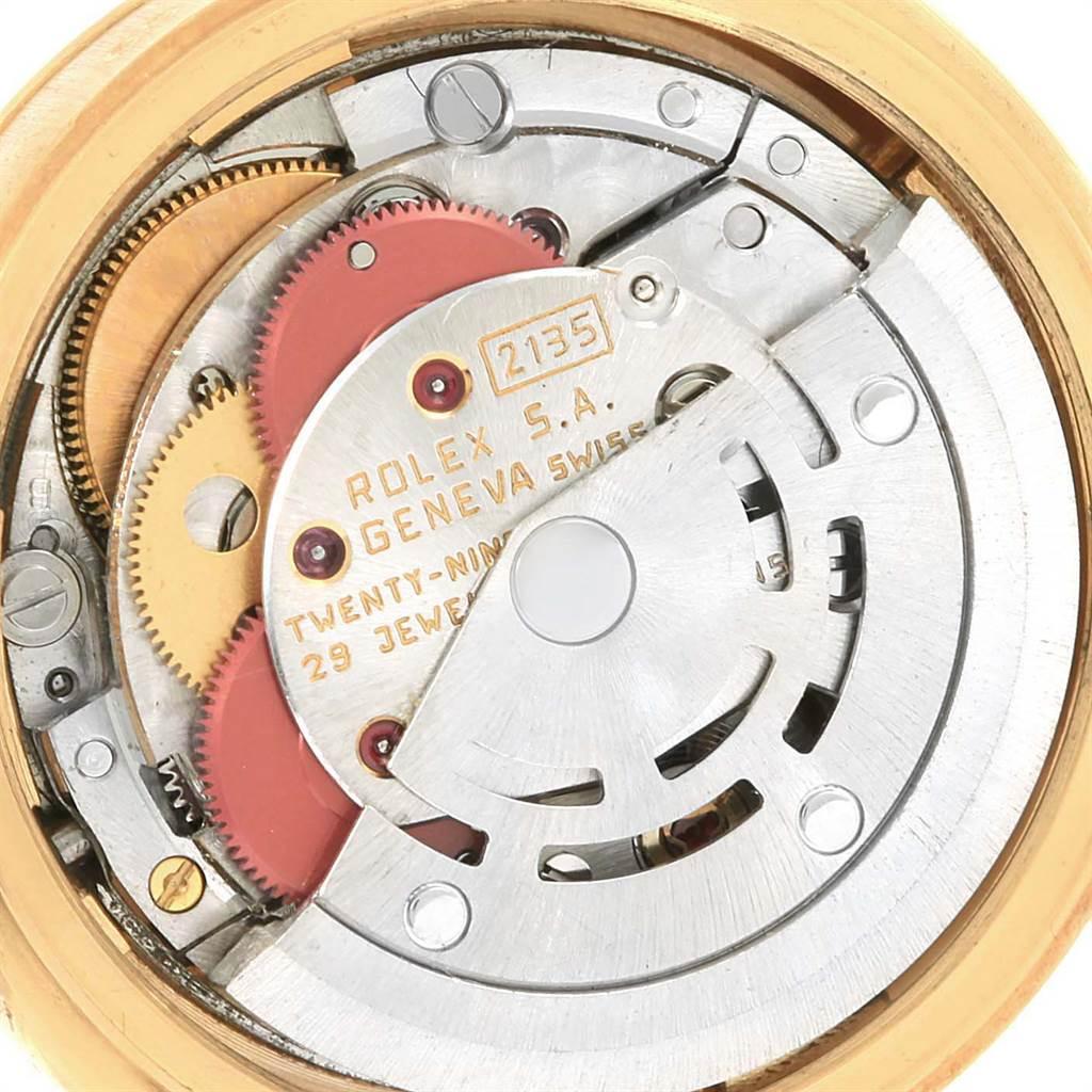 9449 Rolex President Datejust Yellow Gold Burlwood Dial Ladies Watch 69178 SwissWatchExpo