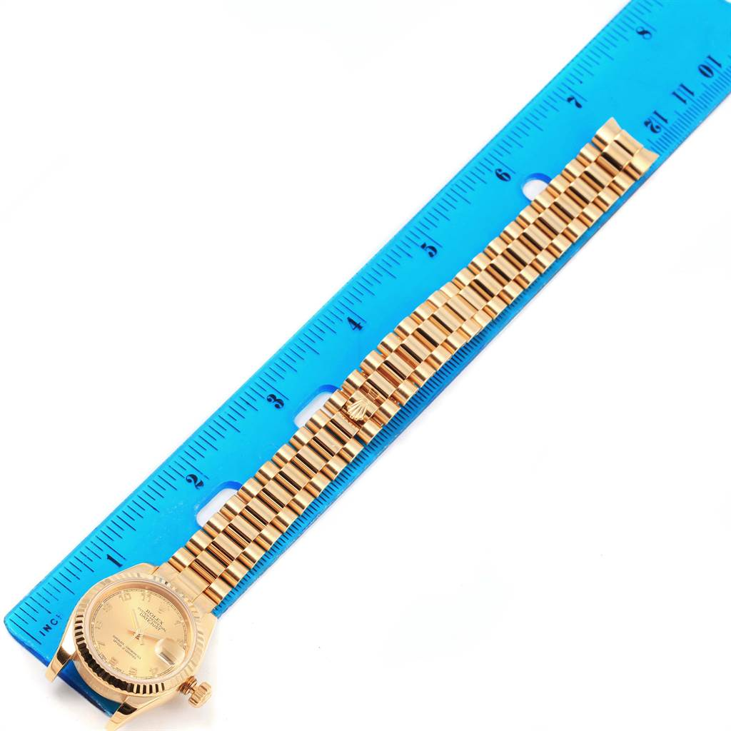 Rolex President Datejust Arabic Dial Yellow Gold Ladies  Watch 179178 SwissWatchExpo