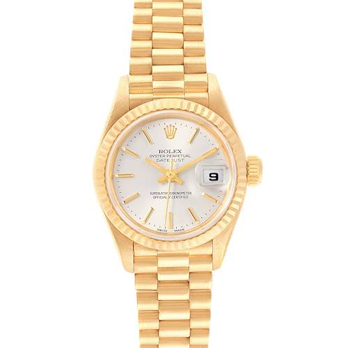 Photo of Rolex President Datejust 18k Yellow Gold Silver Dial Ladies Watch 79178