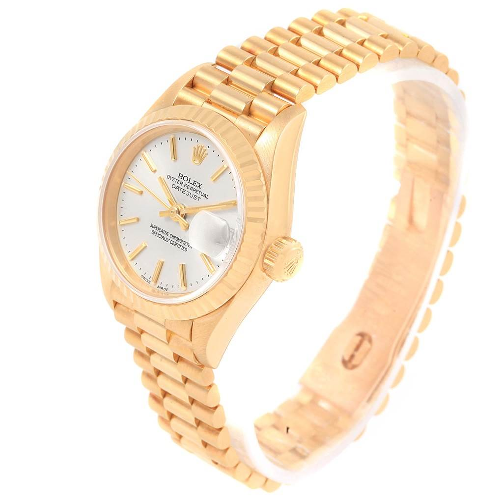 16737 Rolex President Datejust 18k Yellow Gold Silver Dial Ladies Watch 79178 SwissWatchExpo