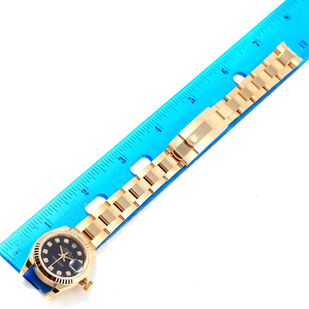 17414 Rolex President Datejust Ladies Yellow Gold Diamond Watch 179178 Box Papers SwissWatchExpo