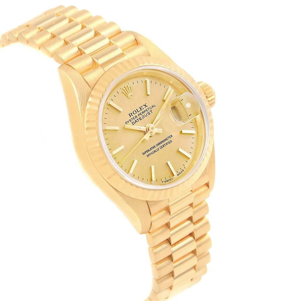 18802 Rolex President Datejust 26mm 18k Yellow Gold Ladies Watch 79178 SwissWatchExpo