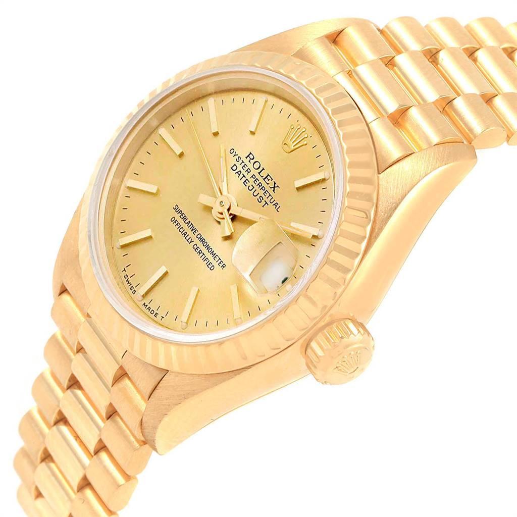 Rolex President Datejust 26mm 18k Yellow Gold Ladies Watch 79178 SwissWatchExpo