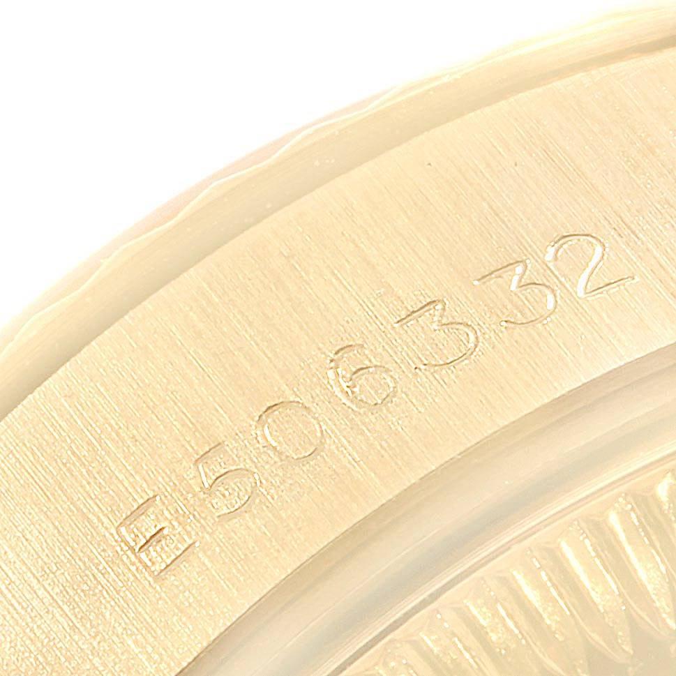 18049 Rolex President Datejust 26 Yellow Gold Ladies Watch 69178 Box Papers SwissWatchExpo