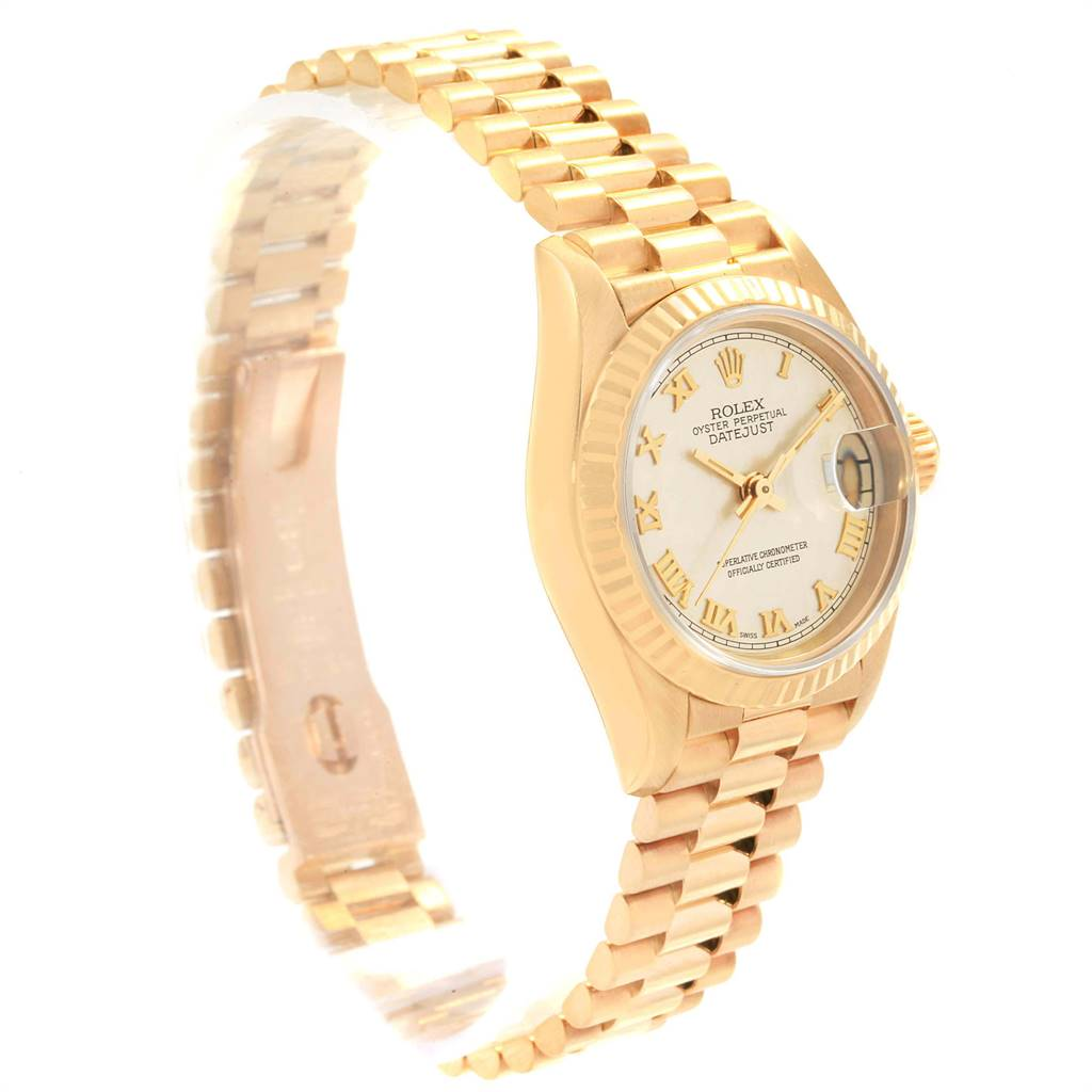 Rolex President Datejust 26 Yellow Gold Ladies Watch 69178 Box Papers SwissWatchExpo