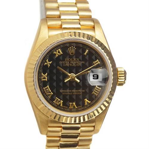 Photo of Rolex President Ladies 18k Yellow Gold Watch 69068