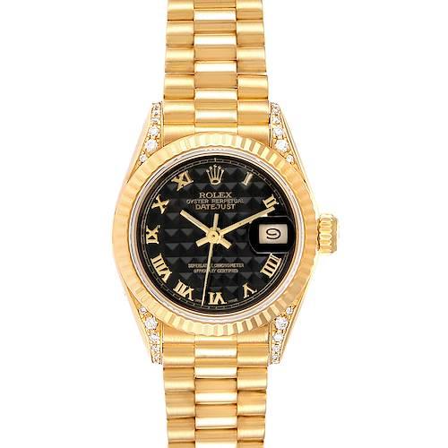 Photo of Rolex President 26 Crown Yellow Gold Diamond Lugs Ladies Watch 69158