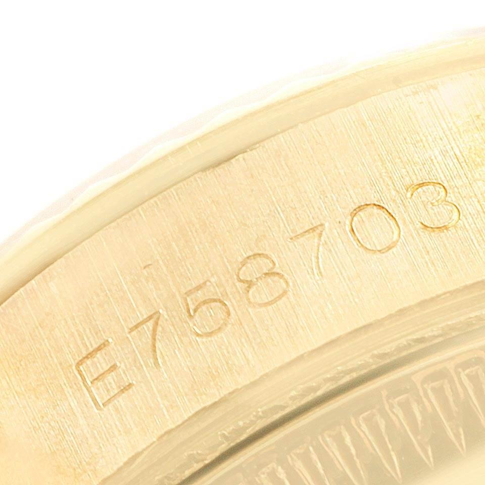 Rolex President 26 Crown Yellow Gold Diamond Lugs Ladies Watch 69158 SwissWatchExpo