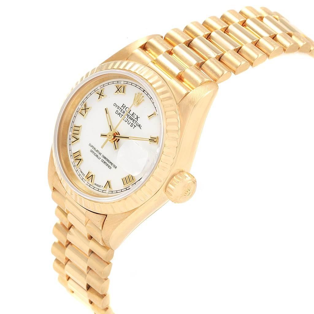 20670 Rolex President Datejust 26 Yellow Gold Ladies Watch 69178 Box SwissWatchExpo