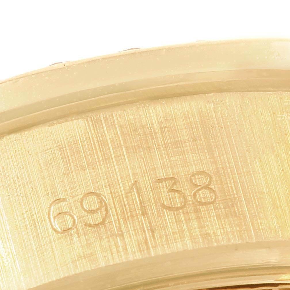 20035A Rolex President Datejust 26 Yellow Gold Diamond Ladies Watch 69138 Box Papers SwissWatchExpo