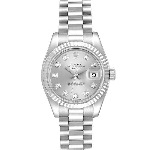 Photo of Rolex President Ladies White Gold Diamond Ladies Watch 179179